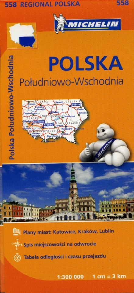 Poland South East - Michelin Map 558